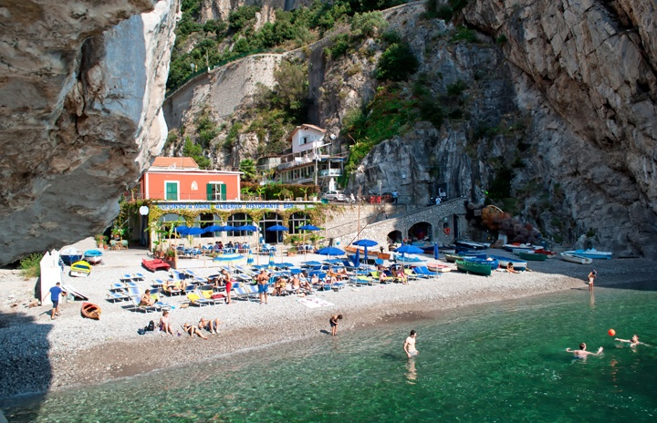 La Praia Beach on the Amalfi Coast