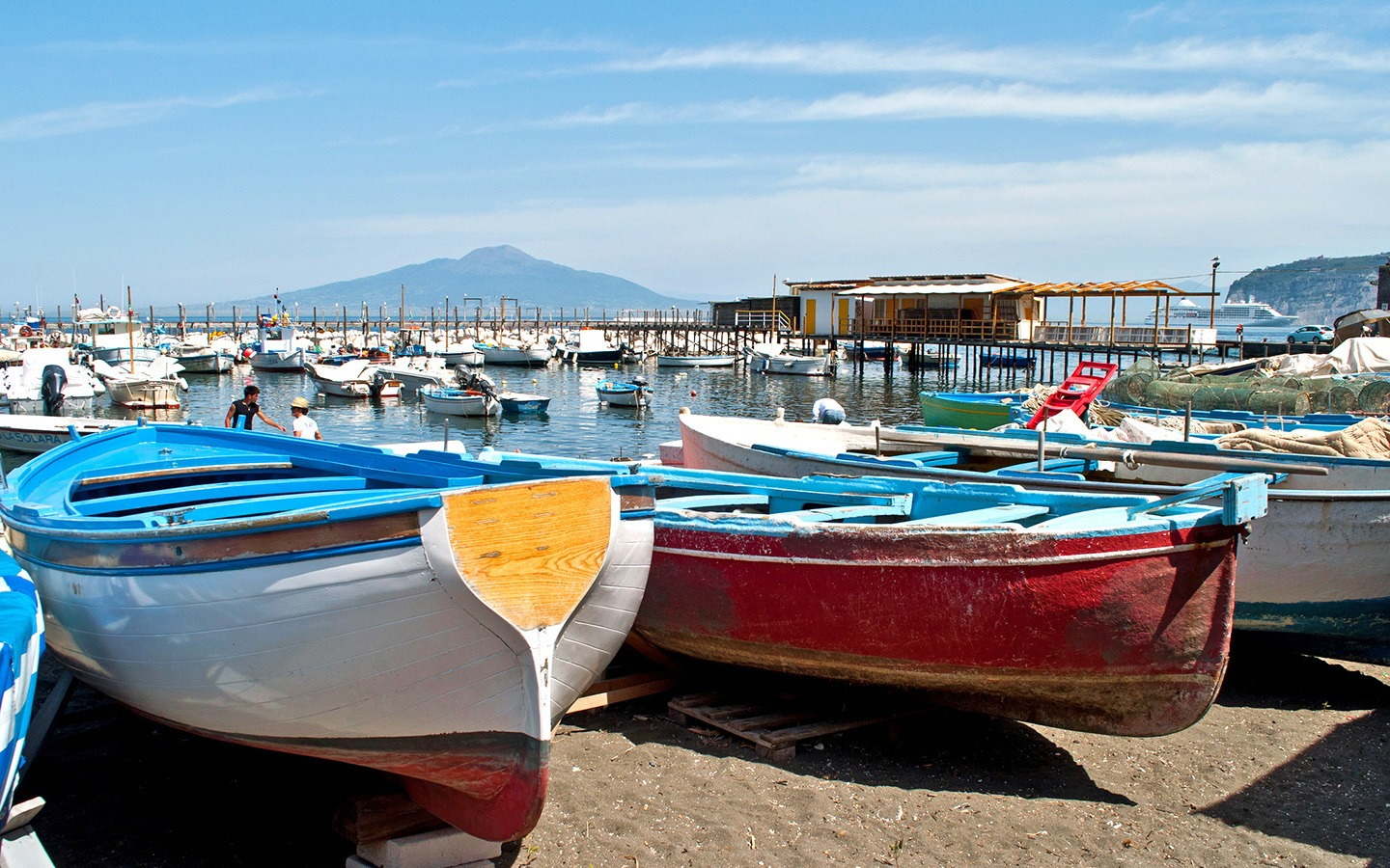 Boats in the harbour at Marina Grande Sorrento Italy