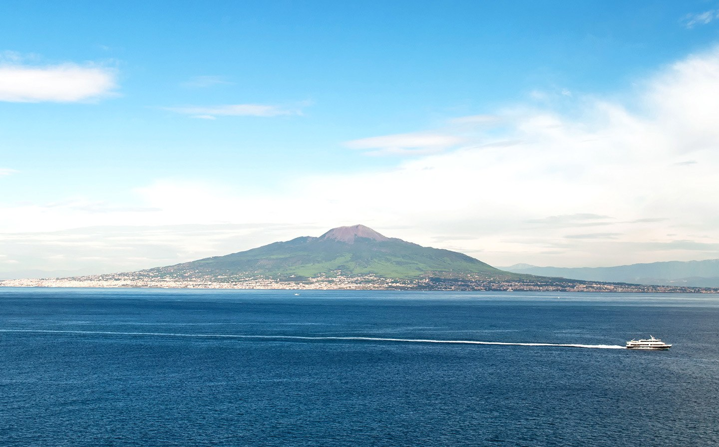 Vesuvius in the Bay of Naples, Italy