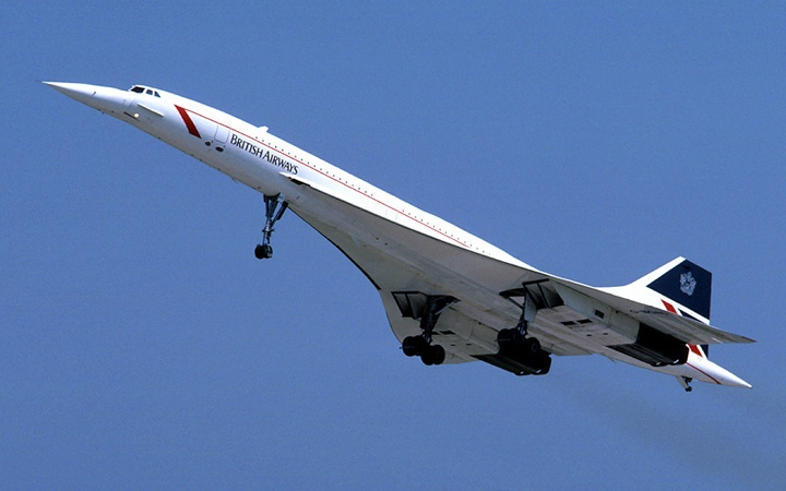 British Airways Concorde plane