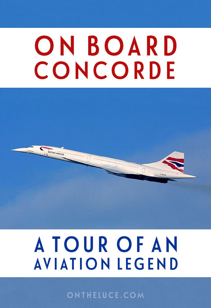 Touring Concorde at Manchester Airport, a taste of life on board this unique supersonic plane – engineering marvel, design icon and synonym for luxury.