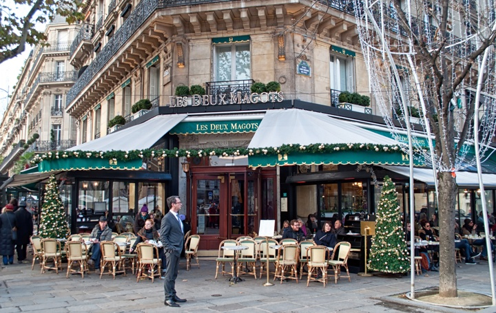 Deux Magots cafe in St Germain Paris