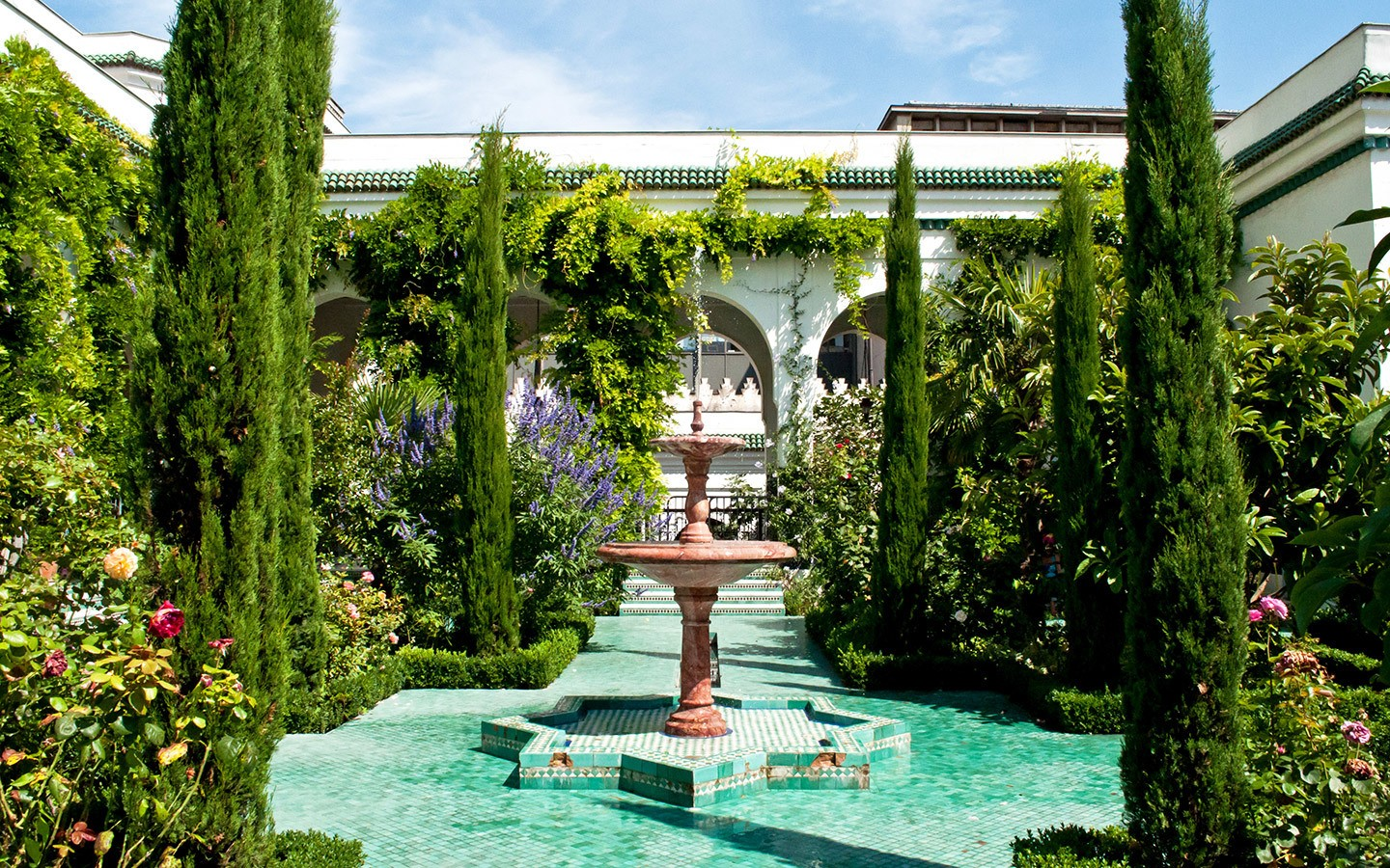 Gardens at the Grand Mosquée de Paris
