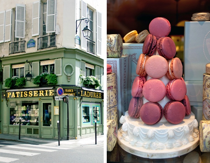 Laduree shop in Rue Bonaparte, St Germain, Paris