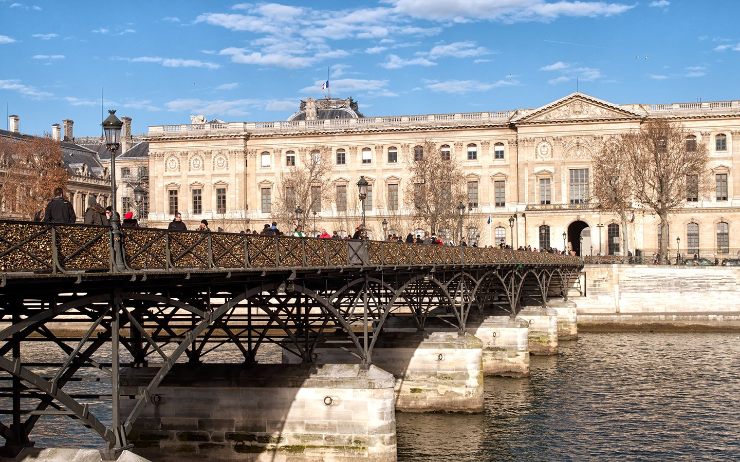 The Pont des Arts bridge in Paris