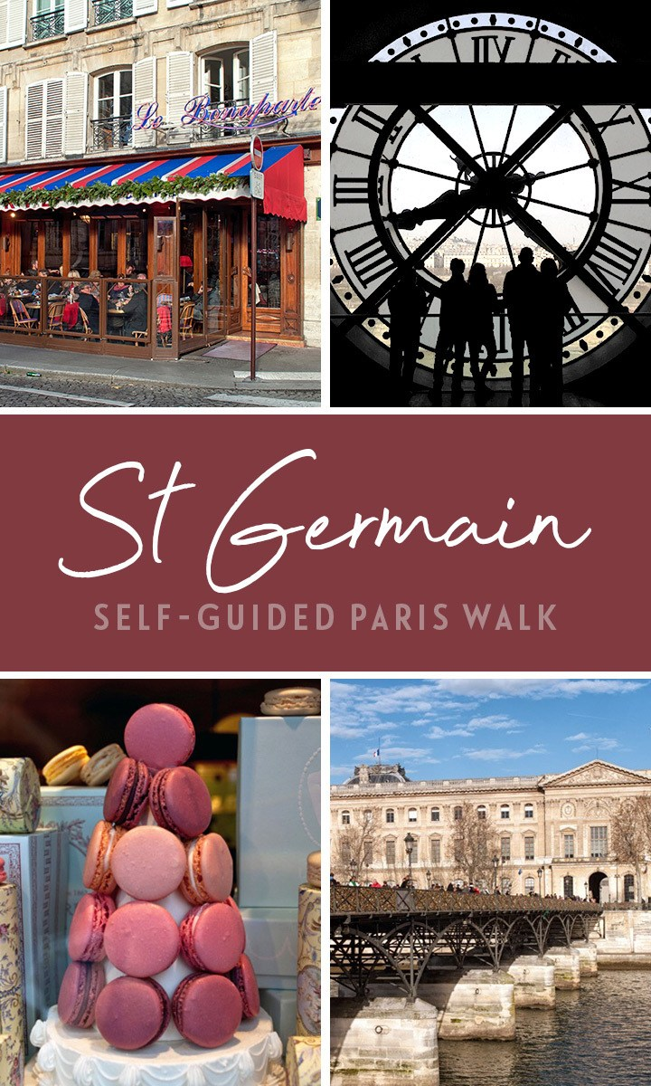 A self-guided walking tour of St Germain, Paris' Left Bank – including St Sulpice, Luxembourg Gardens, the Musee d'Orsay and macarons at Ladurée #Paris #walk #France #StGermain