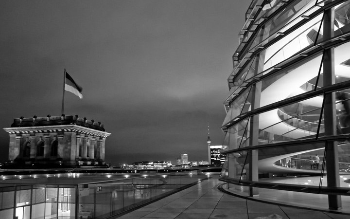 Views across Berlin from the Reichstag dome