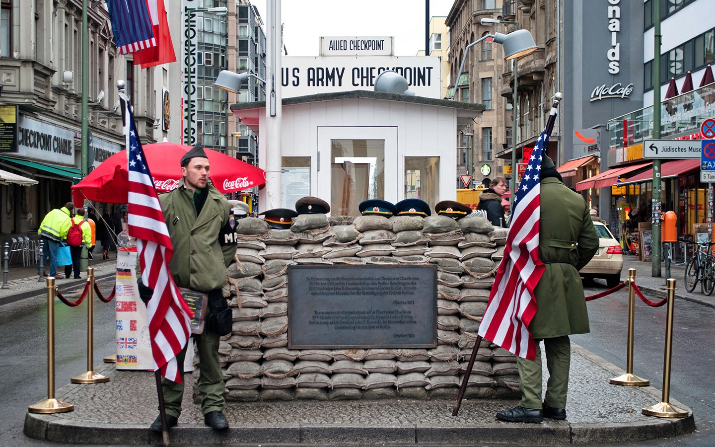 Checkpoint Charlie – a free thing to do in Berlin on a budget