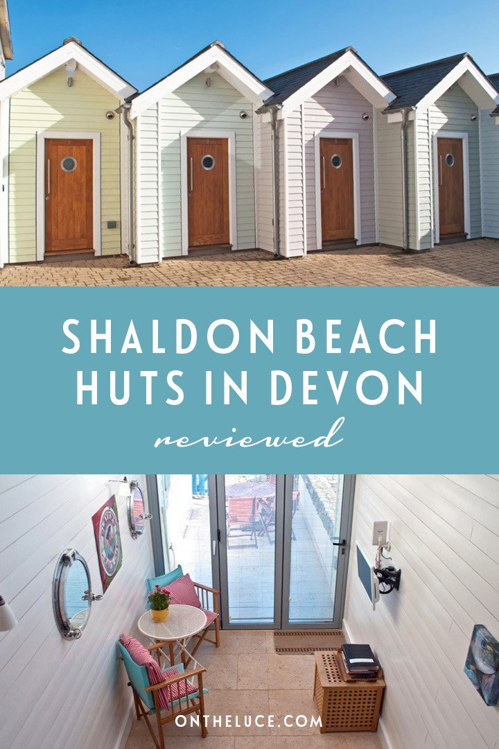 A seaside stay in Devon at Shaldon Beach Huts, a romantic luxury beach hut with proper beds, a bathroom and kitchen right on the edge of the beach. #Devon #beachhut #Shaldon #England