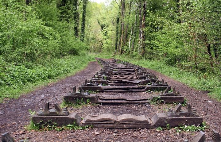 Carved railway sleepers