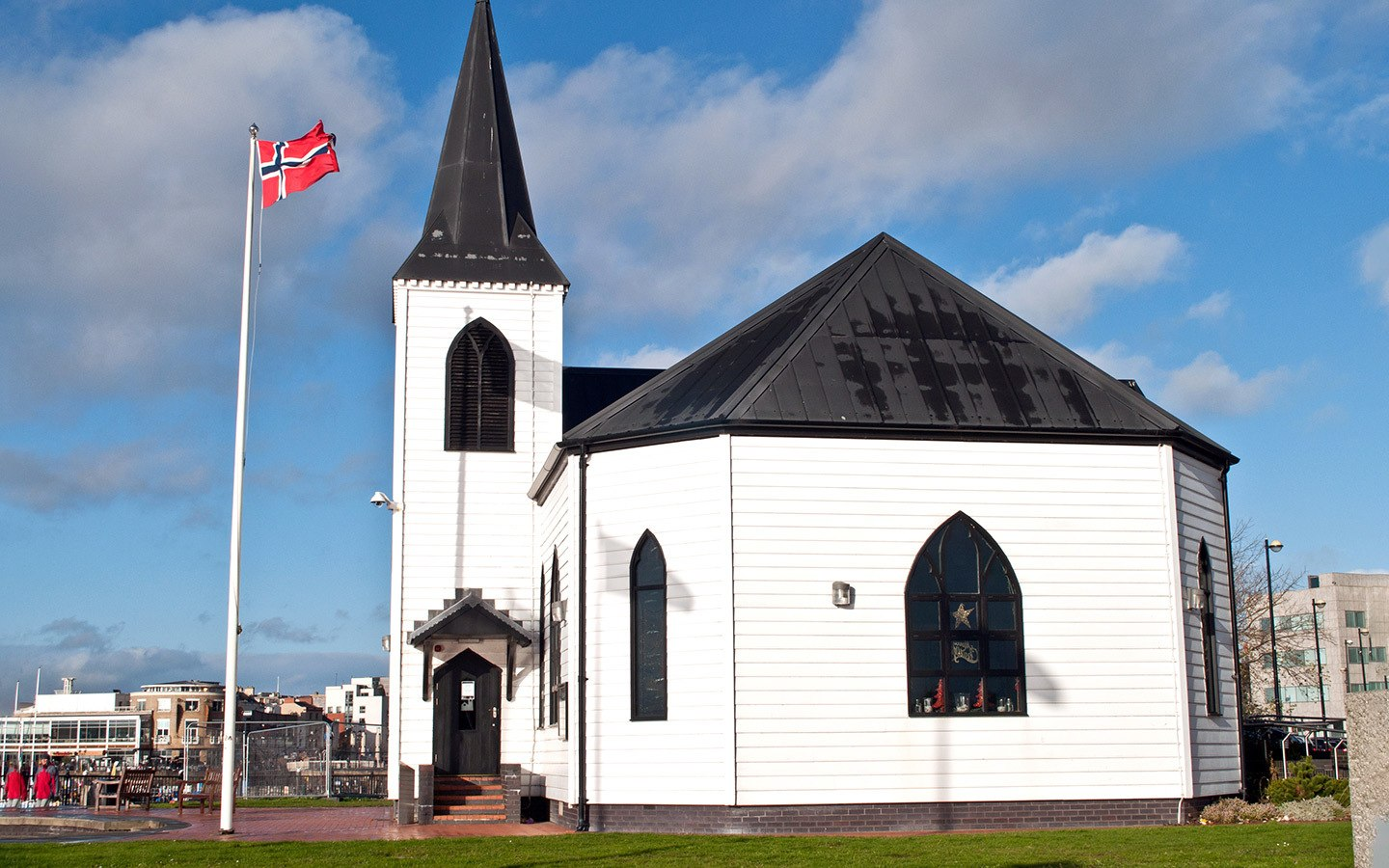 Norwegian church in Cardiff Bay