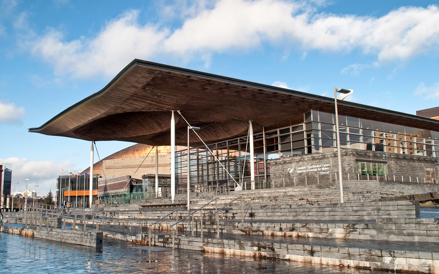 The Senedd – the Welsh Assembly's parliament building