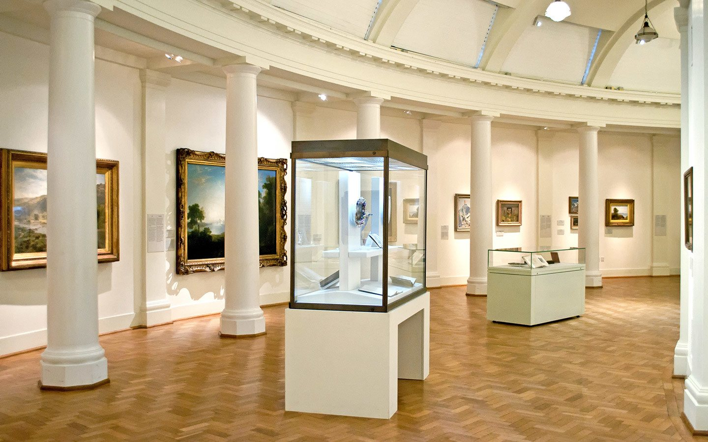 Inside the art galleries at the Cardiff Museum, Wales