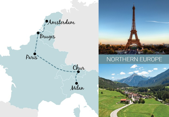 A one-week rail trip itinerary in Northen Europe