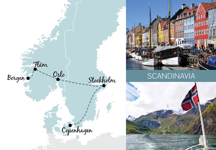 A one-week rail trip itinerary in Scandinavia