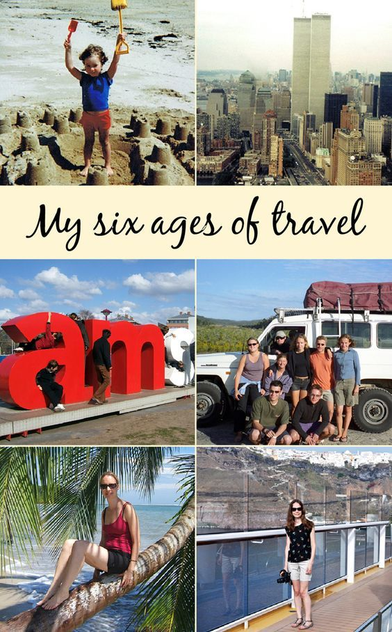 From family holidays to blogging trips – looking back through my six ages of travel at how my travel style has evolved over the years.