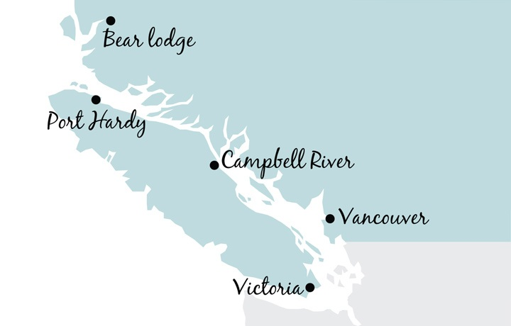 British Columbia map, Canada