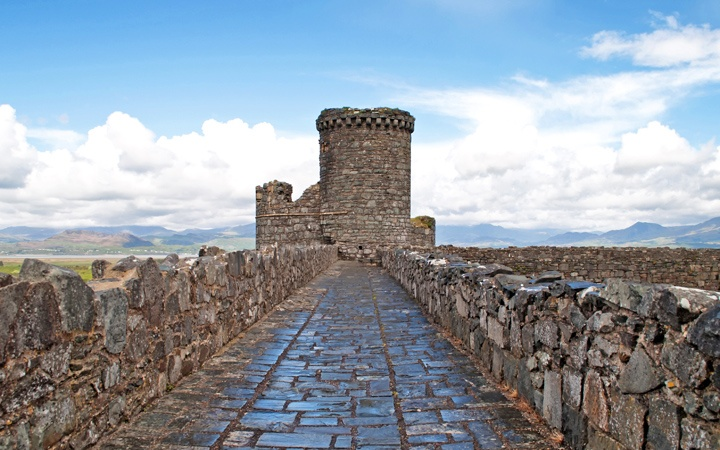 Harlech Castle battlements, North Wales