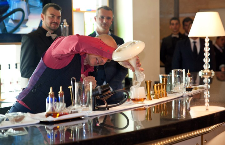 Cocktail making in the World-Class Bar