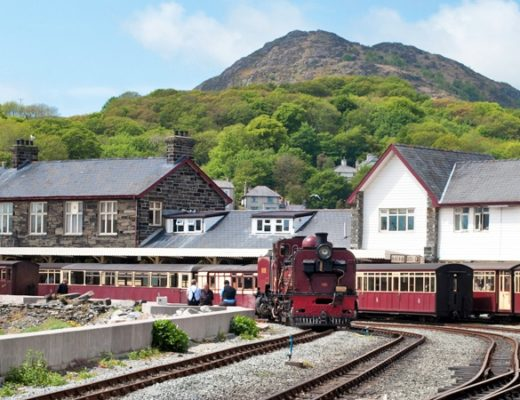 Ffestiniog railway in North Wales