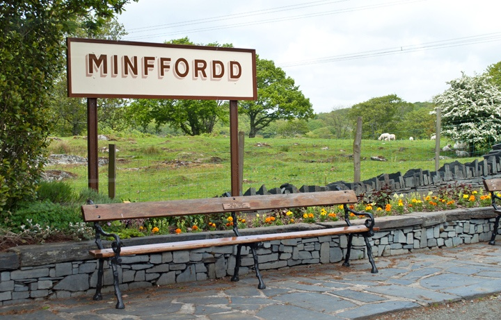 Minffordd station on the Ffestiniog Railway