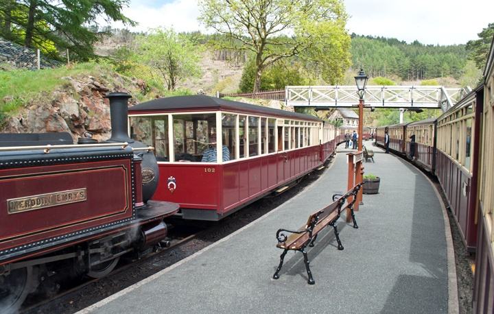 Tan-y-Bwlch station on the Ffestiniog Railway