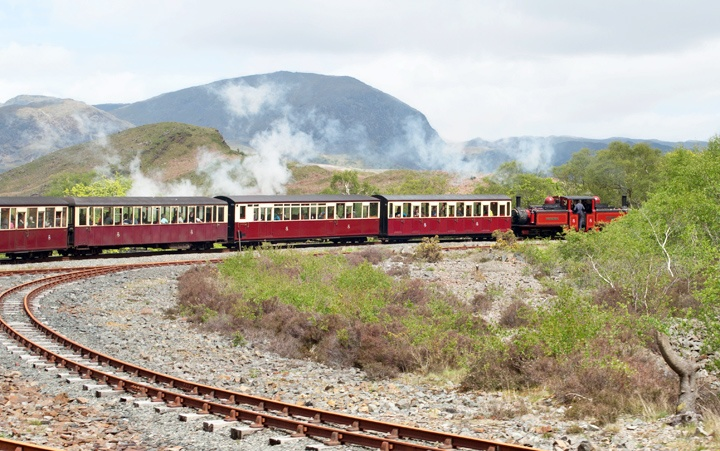 The Ffestiniog Railway spiral