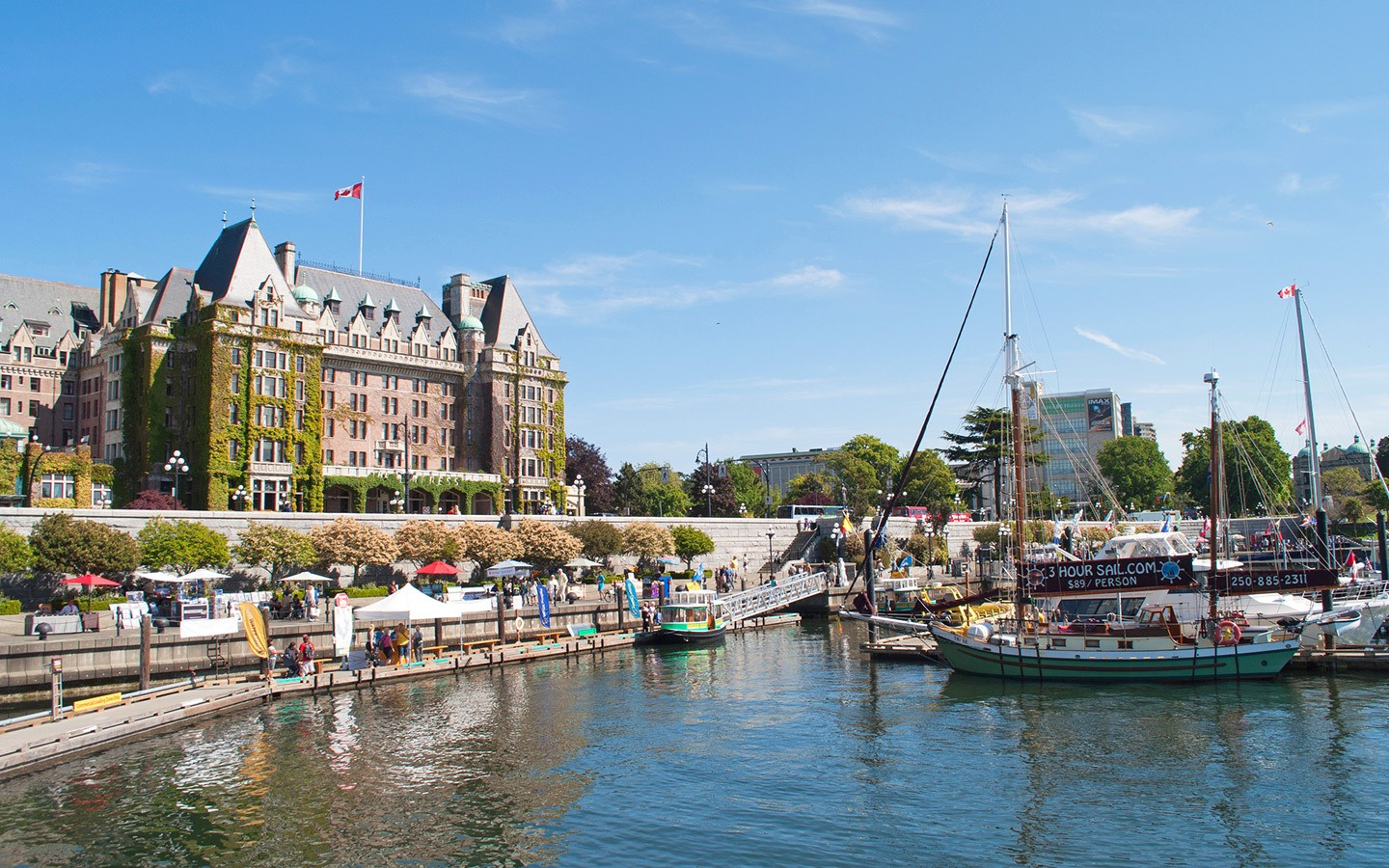 The harbour in Victoria, British Columbia
