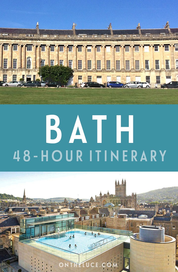 A guide to spending a weekend in Bath, England, with tips on what to see, do, eat and drink in this a 48-hour itinerary, including the Royal Crescent, Roman Baths, spa treatments, restaurants and more. #Bath #BathSpa #England #Britain #spaweekend #weekend #weekendbreak