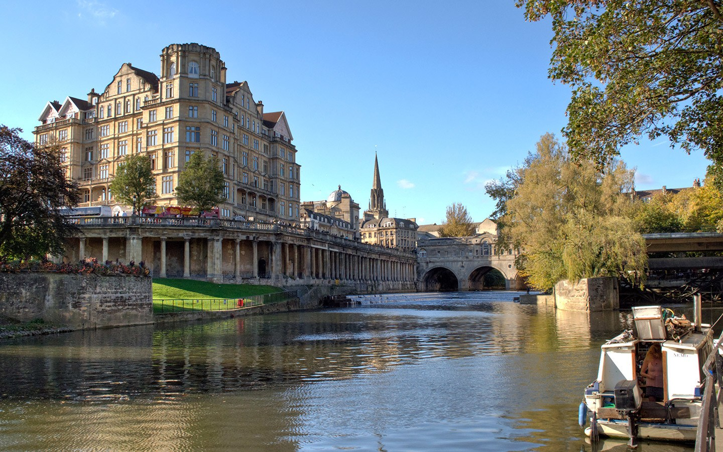 Boat trip along the River Avon, Bath