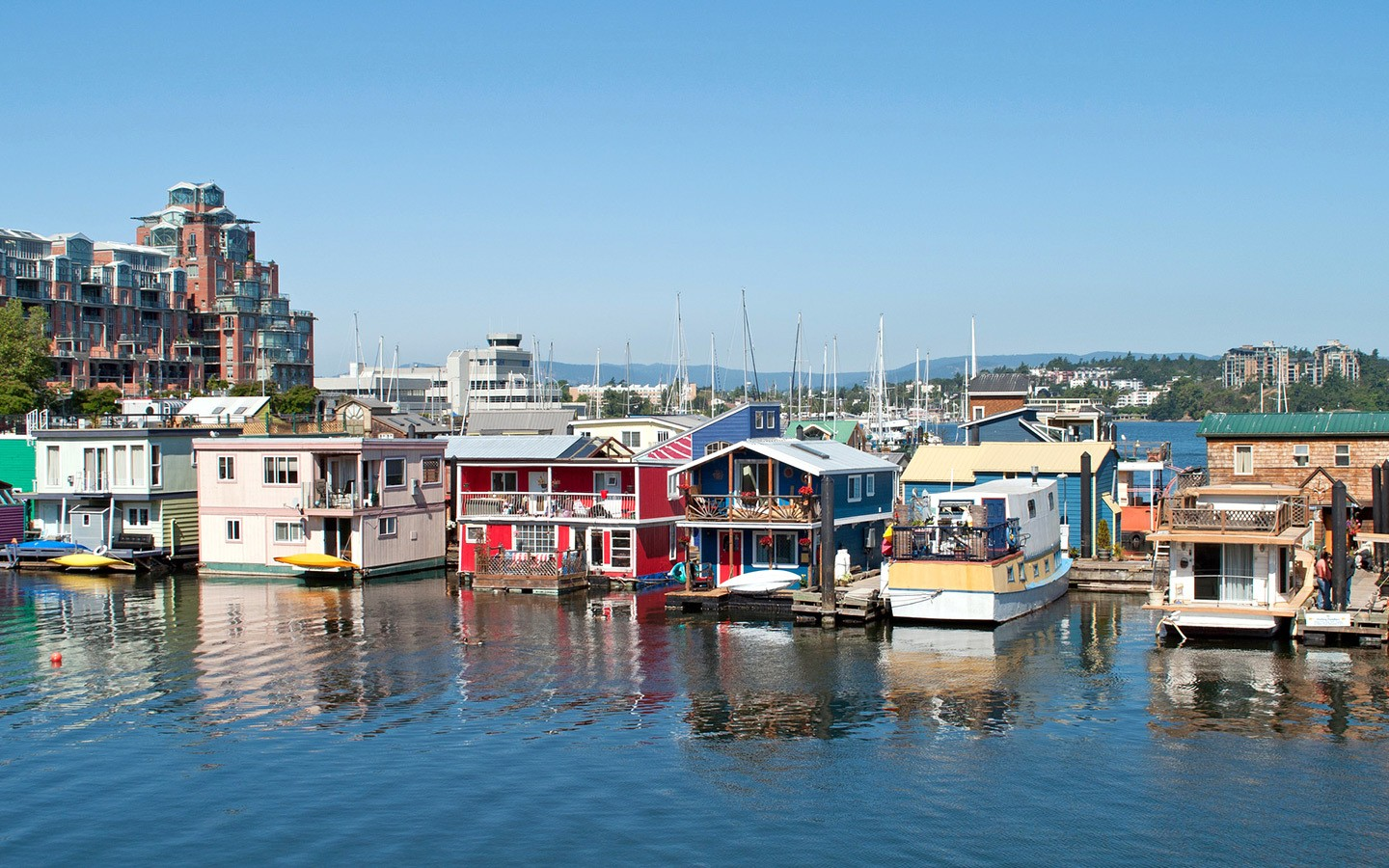 Fisherman's Wharf in Victoria, British Columbia, Canada