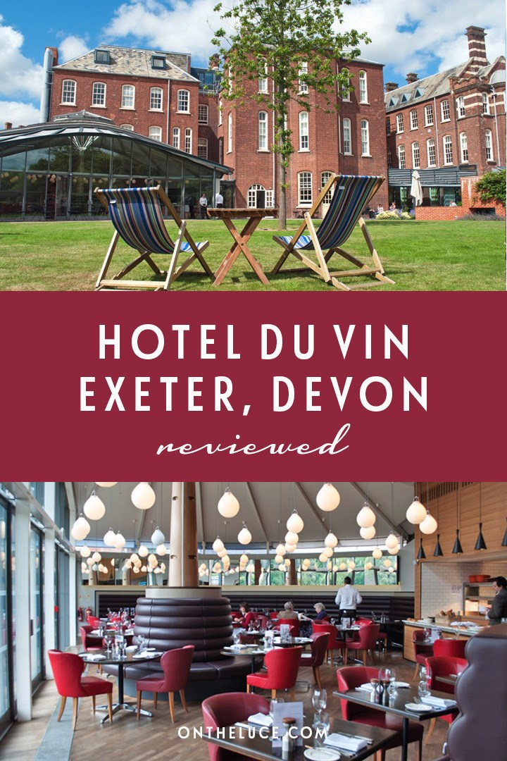 A luxury stay in the Hotel du Vin in Exeter in Devon, where a historic former 19th-century eye hospital has been converted into a boutique hotel with indoor-outdoor pool. #Exeter #Devon #hotel #review