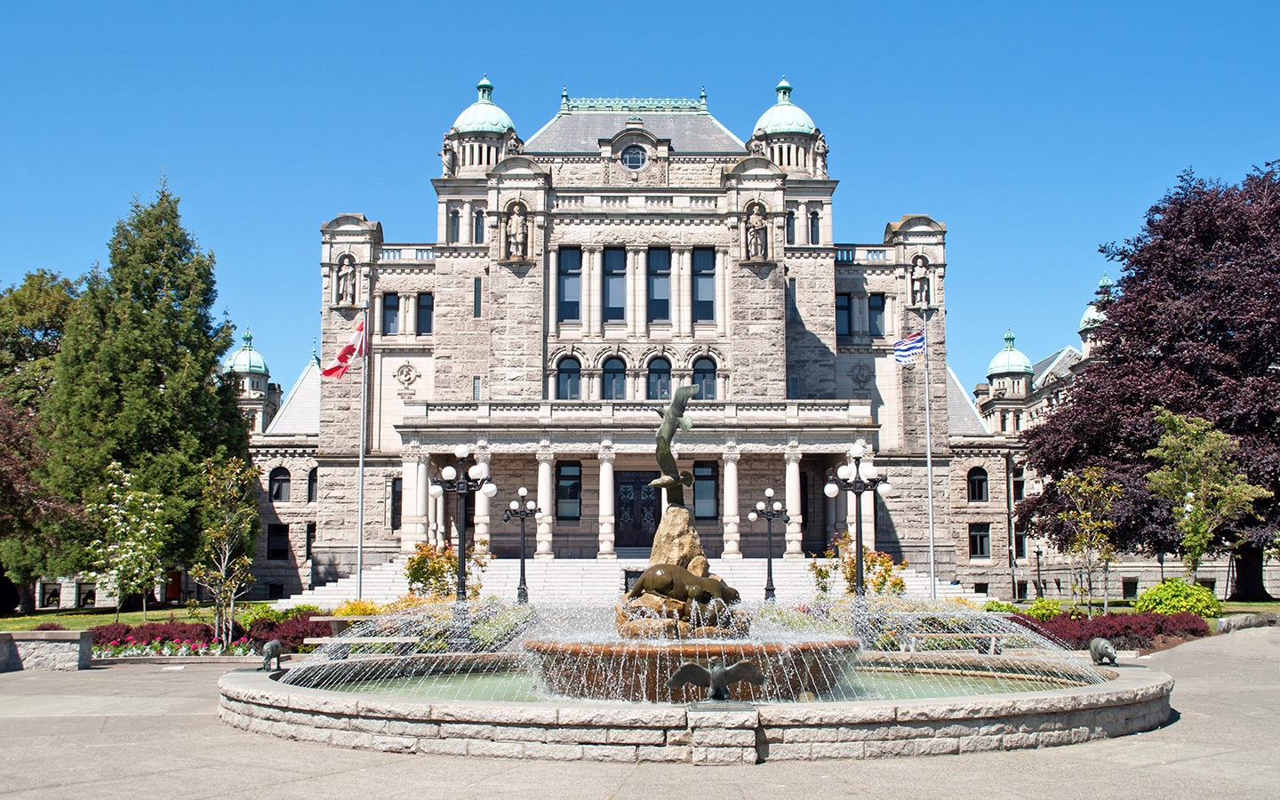 The British Columbia legislature building, Canada