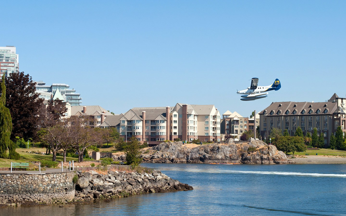Seaplane in Victoria harbour, British Columbia, Canada