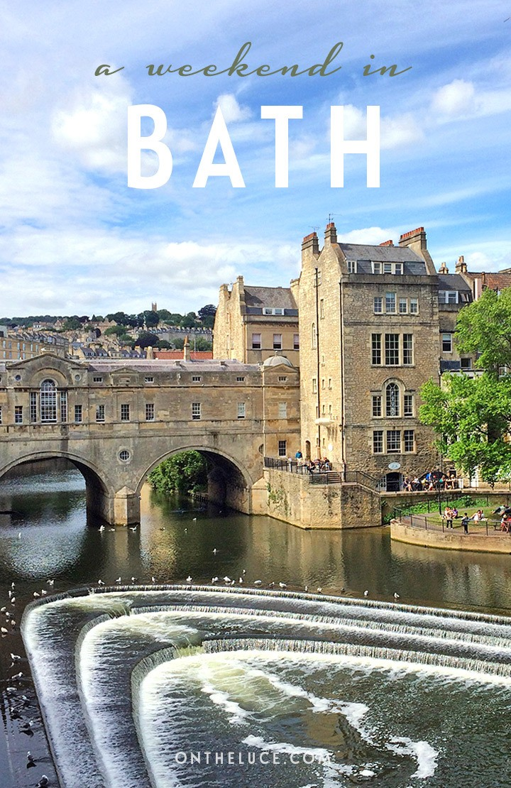 How to spend a weekend in Bath, England, with tips on what to see, do, eat and drink on a 48-hour escape to the historic spa city. #Bath #BathSpa #England #weekend #weekendbreak