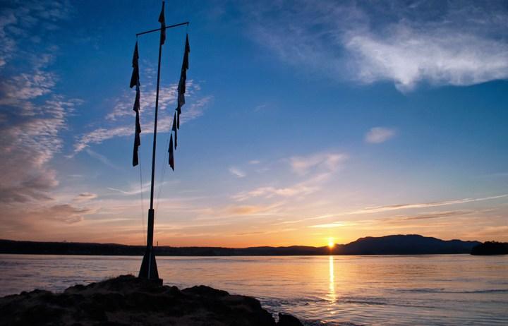 April Point sunset