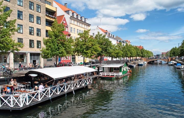 Canal life in Christianshavn, Copenhagen