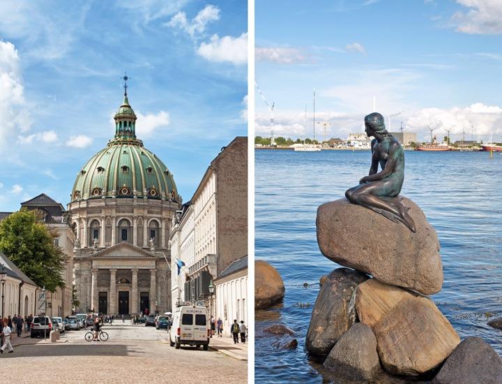 Christiansborg Palace and Little Mermaid, Copenhagen
