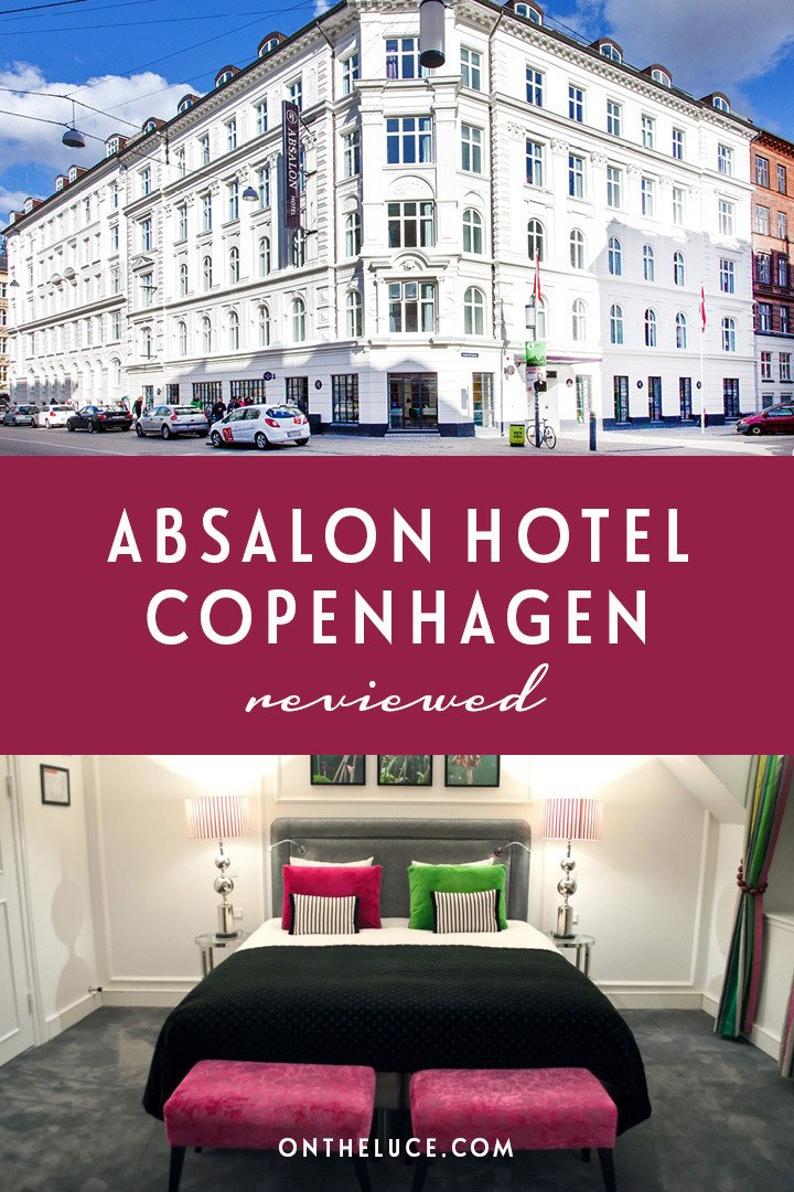 A colourful stay the Absalon Hotel in Copenhagen in Denmark, a big hotel with a boutique feel, where Scandinavian design meets Designer's Guild decor.