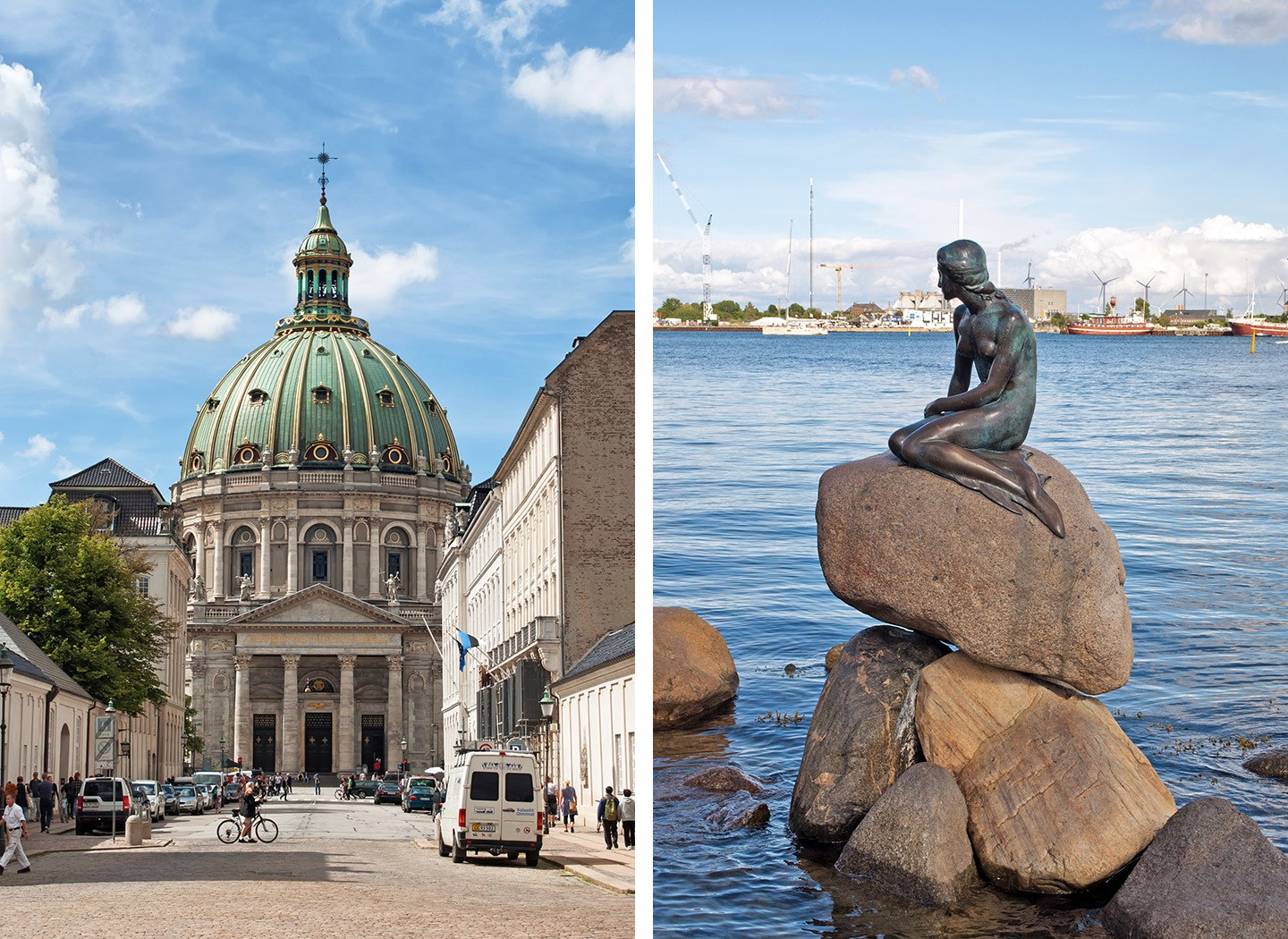 The Christiansborg Palace and Little Mermaid, Copenhagen