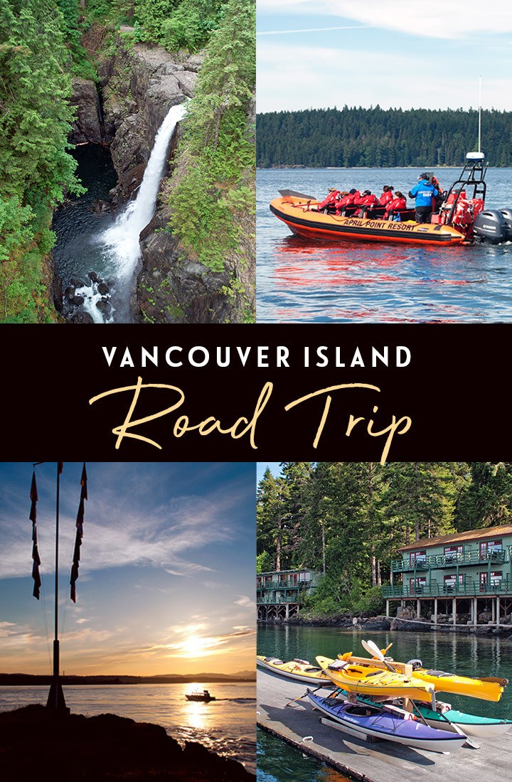 A Vancouver Island road trip in Canada – from the tip of the island to the top, with wineries, waterfalls and whale-watching along the way. #ExploreCanada #HelloBC #VancouverIsland #roadtrip