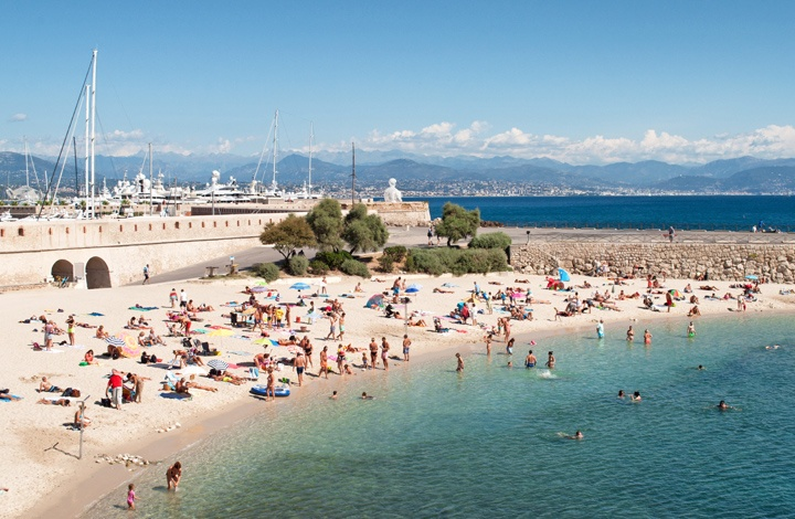Antibes Town Beach in the South of France