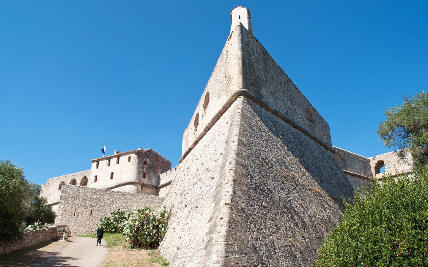 Fort Carré fortress in Antibes, South of France