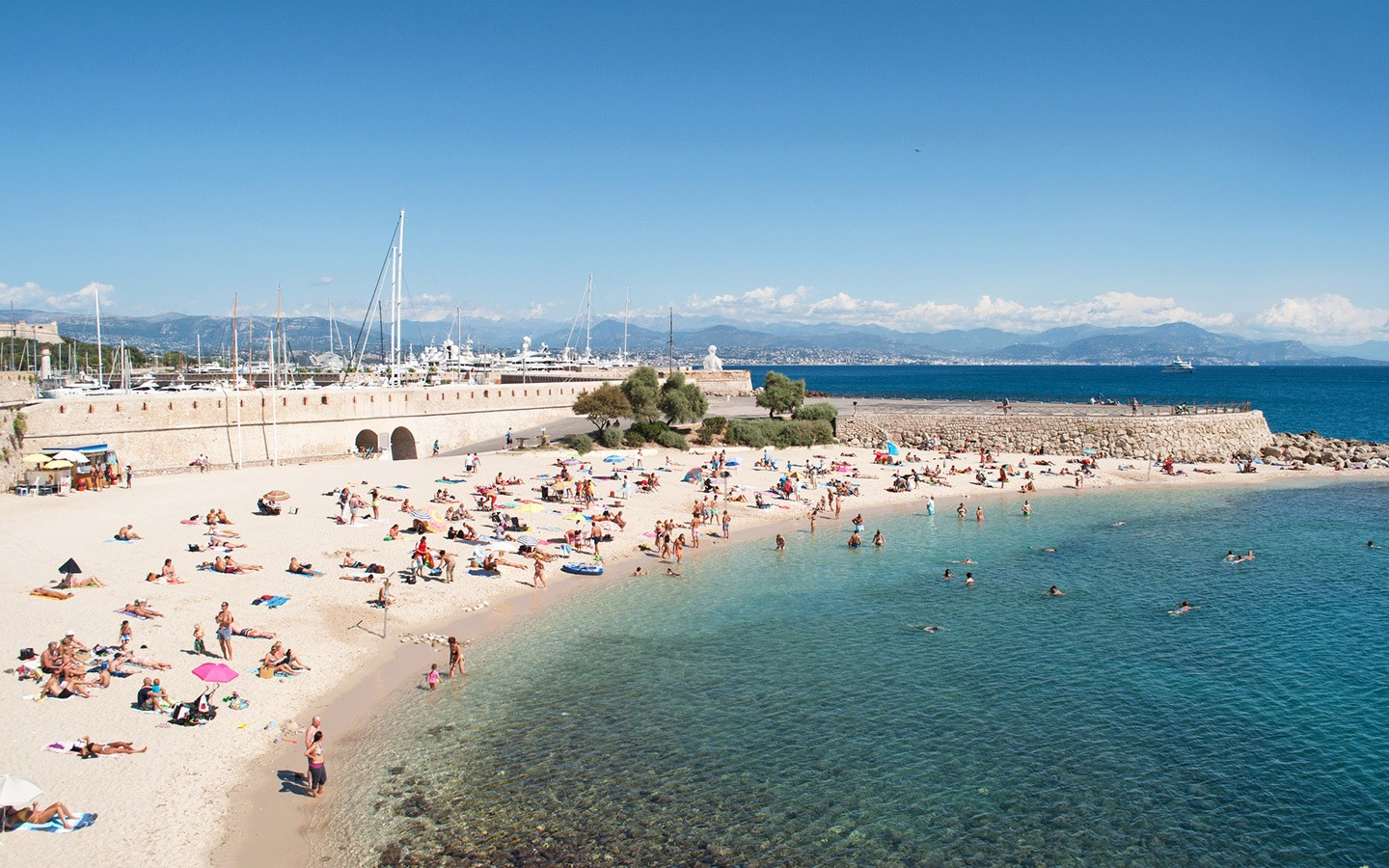 Relaxing on the beach, one of the best things to do in Antibes