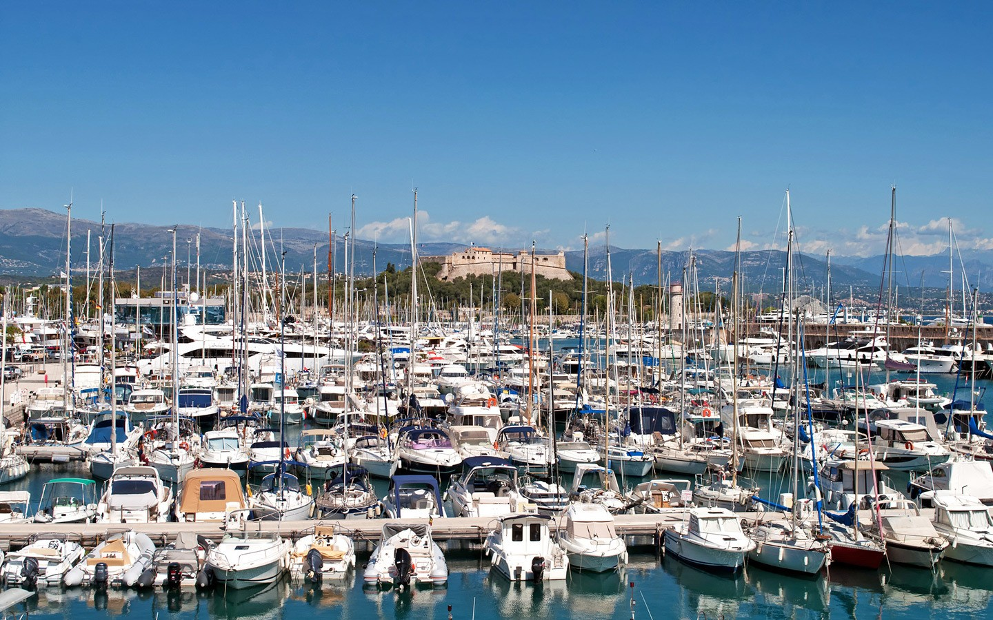 Port Vauban marina in Antibes, South of France