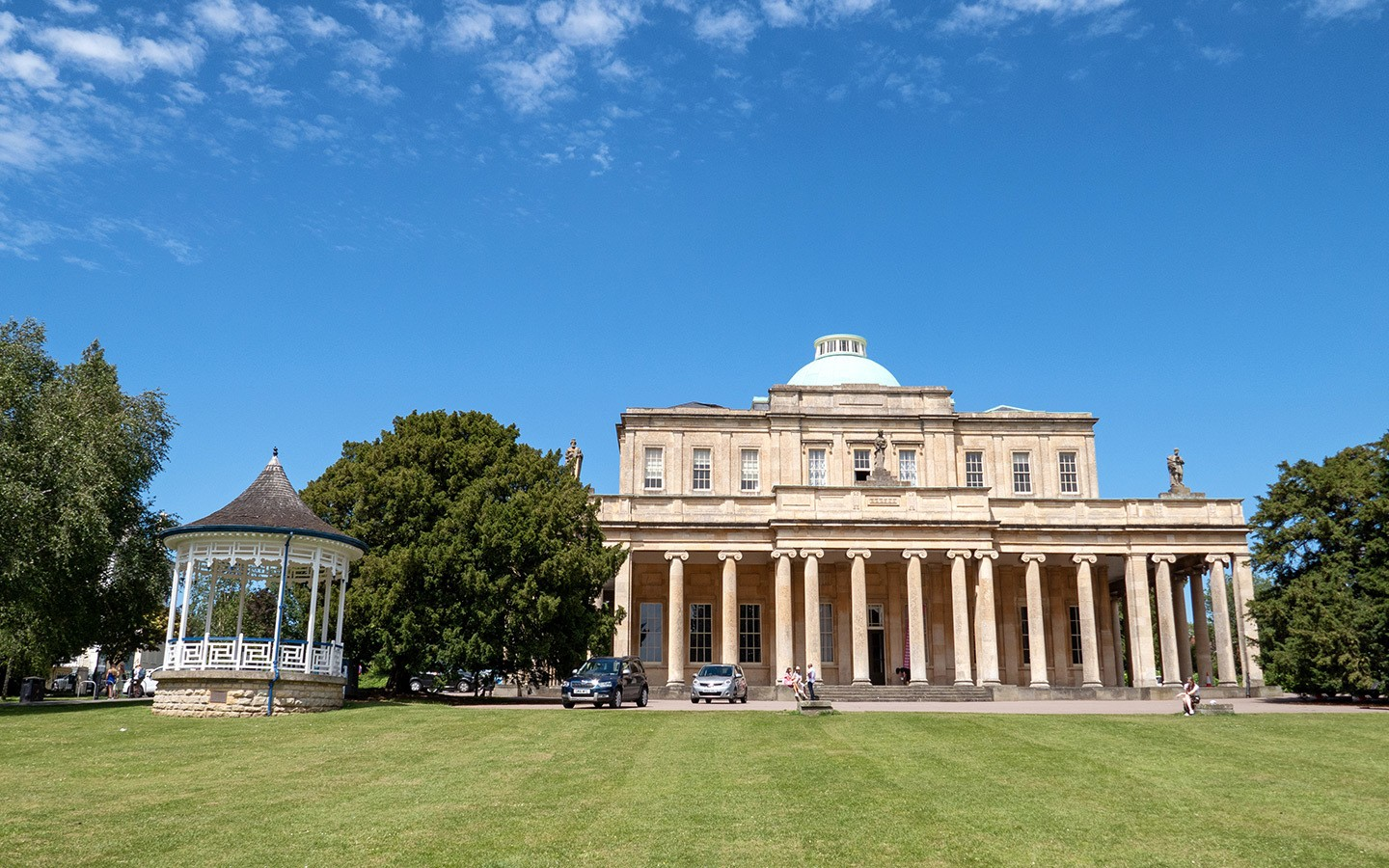 The Pittville Pump Room and park in Cheltenham