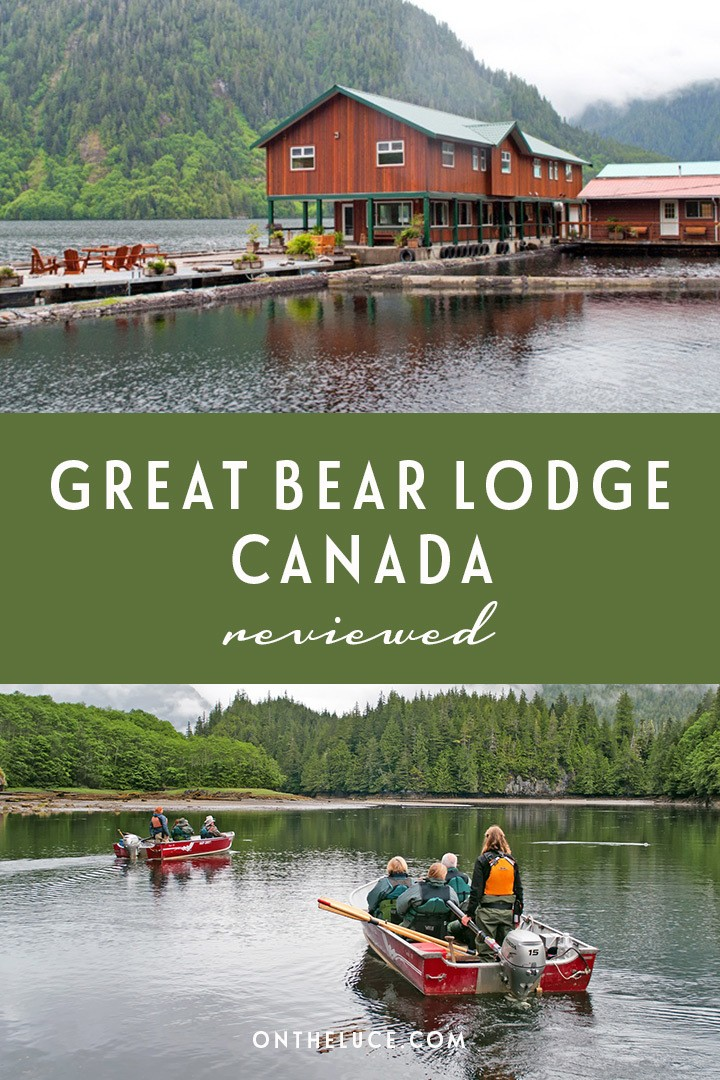 A wildlife-watching stay at the Great Bear Lodge in British Columbia, Canada – a luxury escape in the wilderness among the grizzly bears of the Great Bear Rainforest. #Canada #ExploreCanada #wildlife #grizzlybears