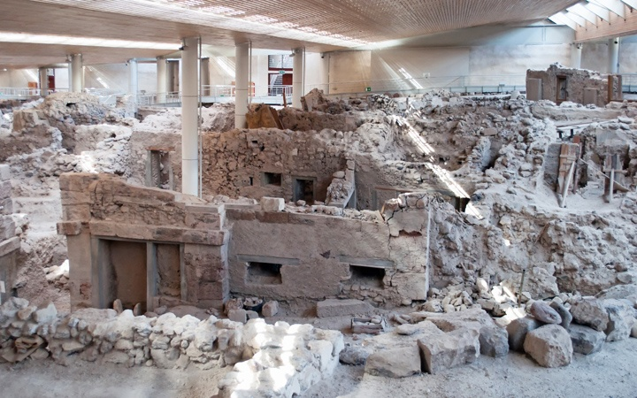 Ancient city of Akrotiri, Santorini