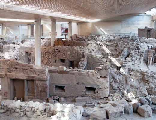 The ancient buried city of Akrotiri, Santorini: Greece's Pompeii