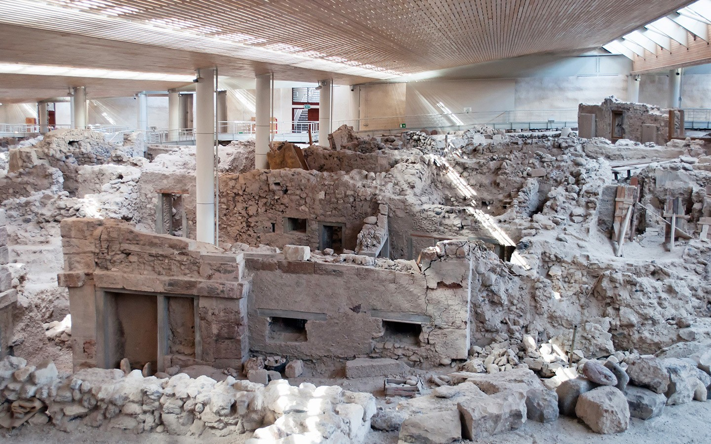 The Ancient Buried City Of Akrotiri Santorini Greece S